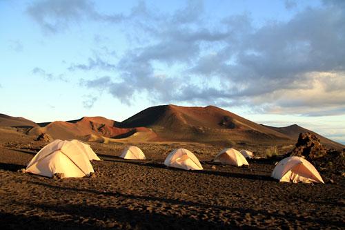Tents at Tolbachik Base Camp