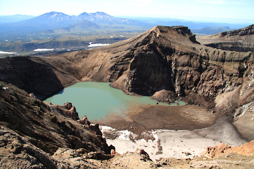 First crater of Gorely Volcano