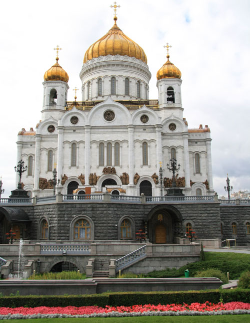 Cathedral of Christ the Saviour Church in Moscow