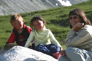 Getting to know local kids in Mongolia