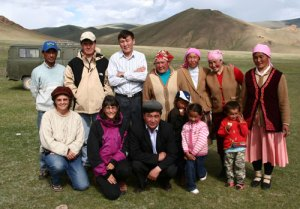 We were the honored guests at a local Naadam Festival in Mongolia - pictured here with our hosts