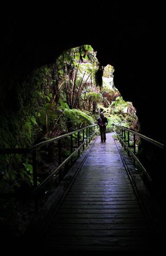 Walking through a lava tube