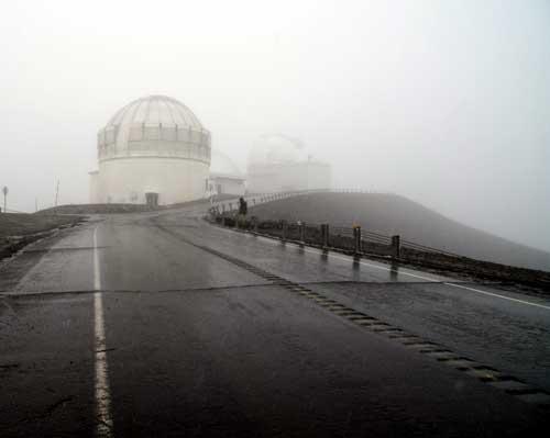 Observatory on summit of Mauna Kea
