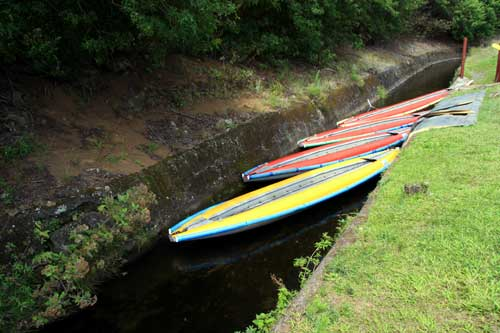 Kayaks in the Kohala Flume Ditch