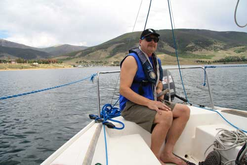 Sailing the high seas of the rocky mountains off trail for Dillon reservoir fishing