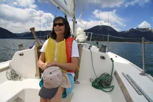 Enjoying the sail on Dillon Reservoir