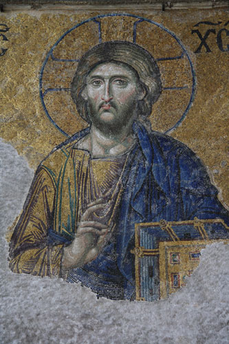 Mosaic in the Hagia Sophia