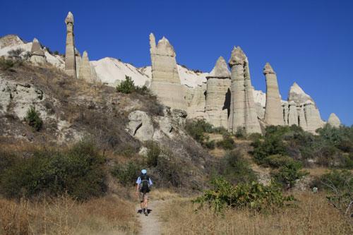 Hiking Down Love Valley in Cappadocia