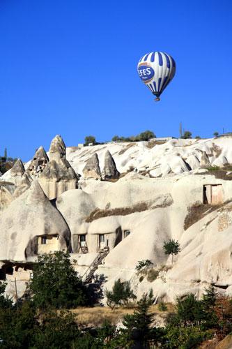 Troglodyte dwellings in Cappadocia