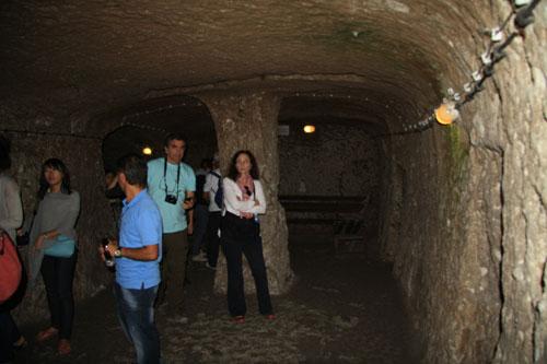 Inside meeting room in Derinkuyu, underground city