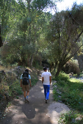 Walking along the river in Ihlara Valley