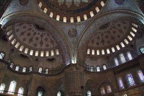 Stunning detail inside Blue Mosque