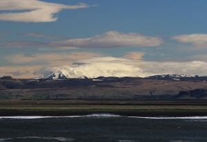Mt Hekla from the Westman Islands Ferry