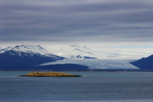 Vontajokull Glacier as Seen from the Village of Hofn